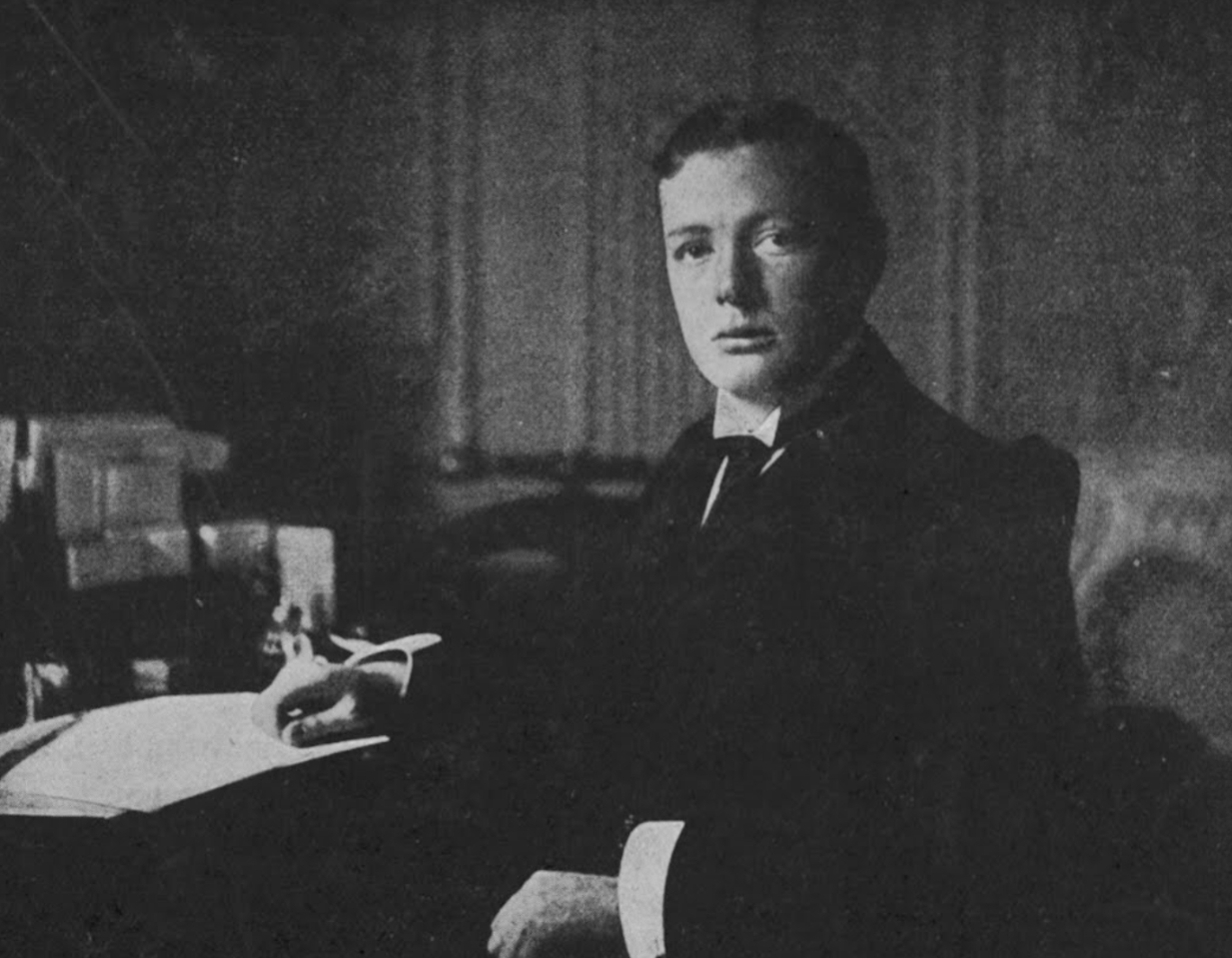 In the office, 1911