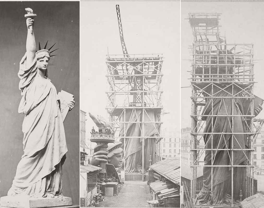 The construction Statue of Liberty