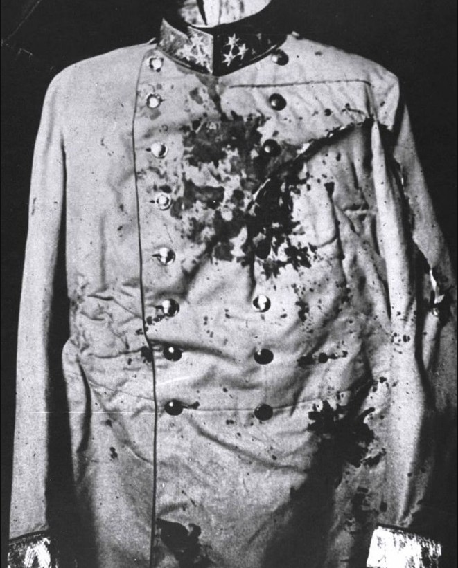 The uniform of Archduke Franz Ferdinand from 1914, whose assassination triggered the outbreak of World War I