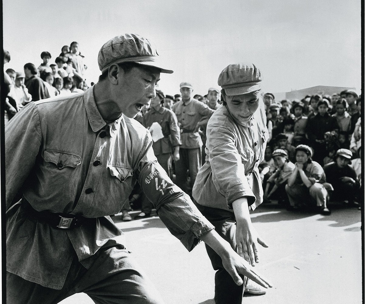 the unity dance of Red Guards during the Cultural revolution