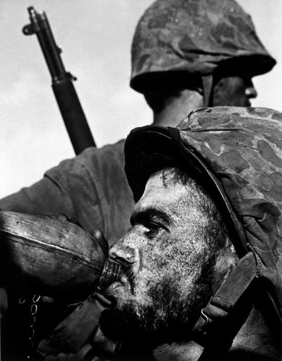 US marine drinking water during the Battle of Saipan Island