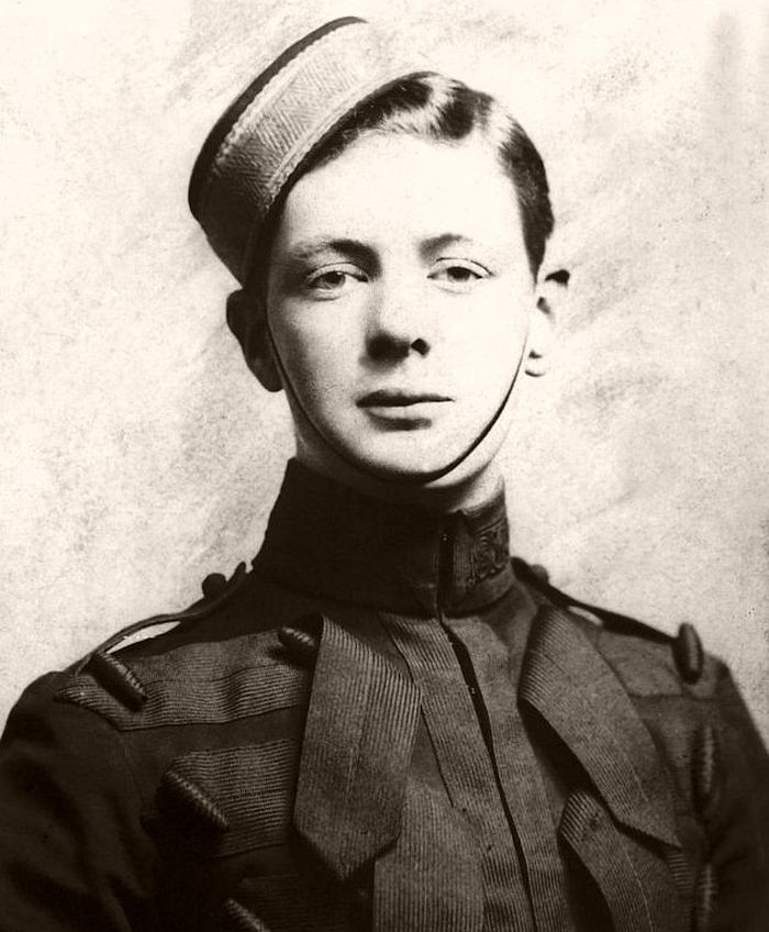 Winston Churchill as an army cadet in 1893.