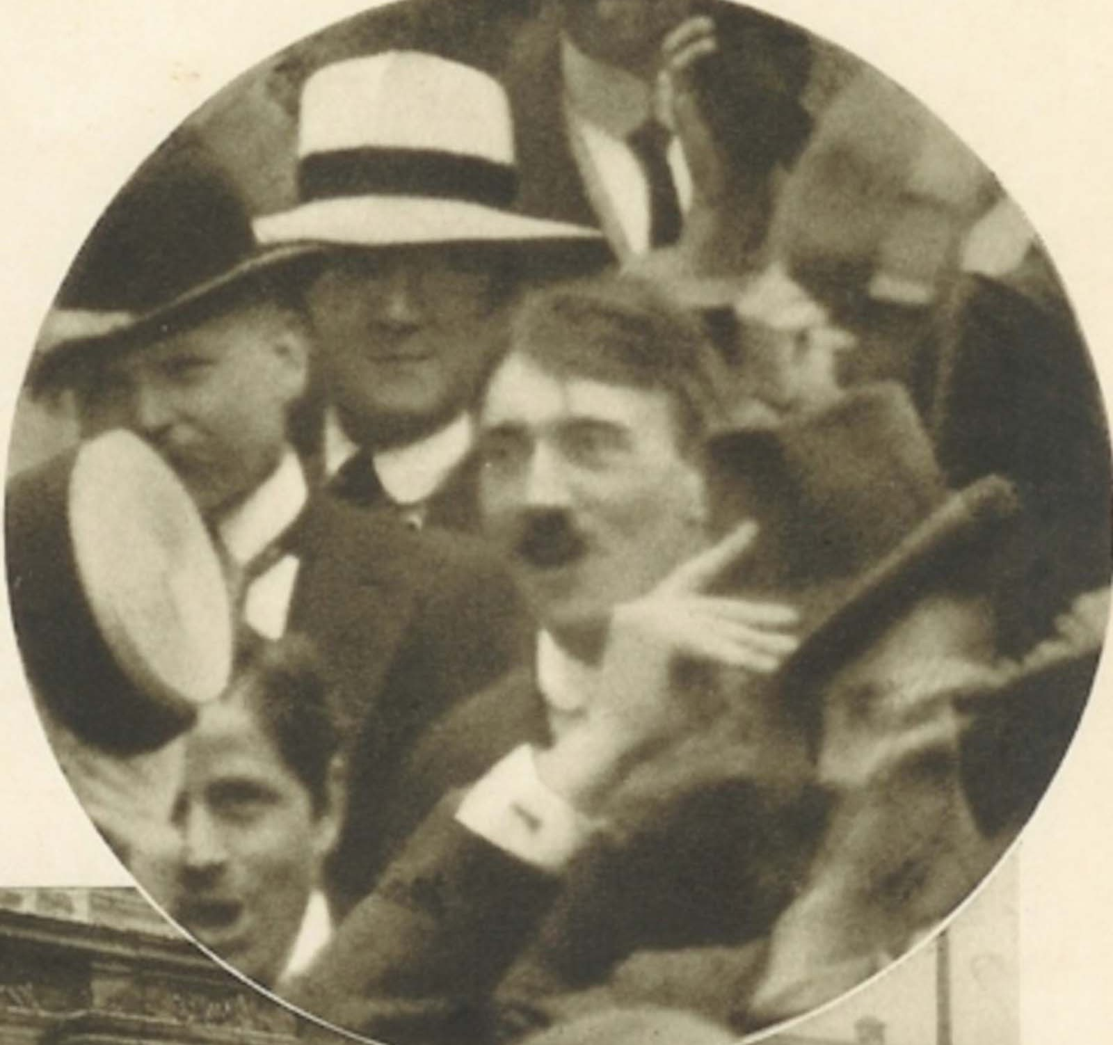 Hitler at OdeonPlatz in Munich, August 1914