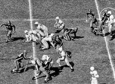 1952. John Robinson and Don Ultang for their sequence of 6 pictures of the Drake-Oklahoma A&M football game.
