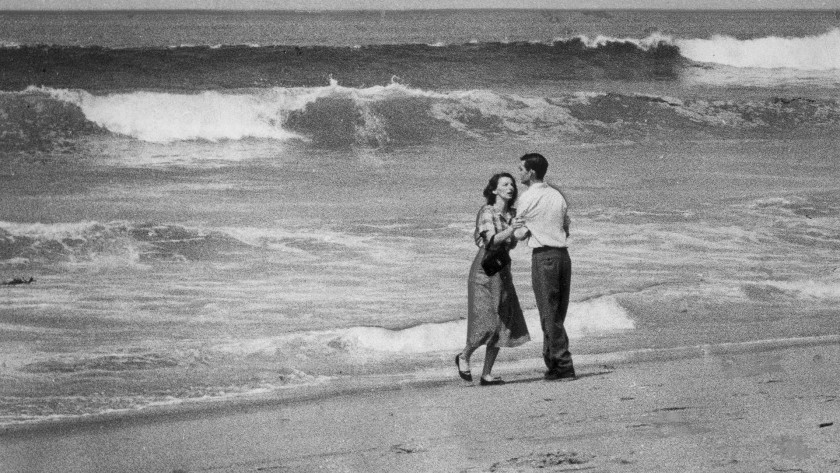 1955. John L. Gaunt for a photo Tragedy by the Sea.