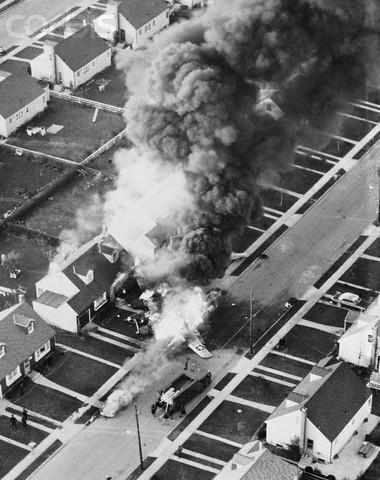 Bomber Crashes in Street.