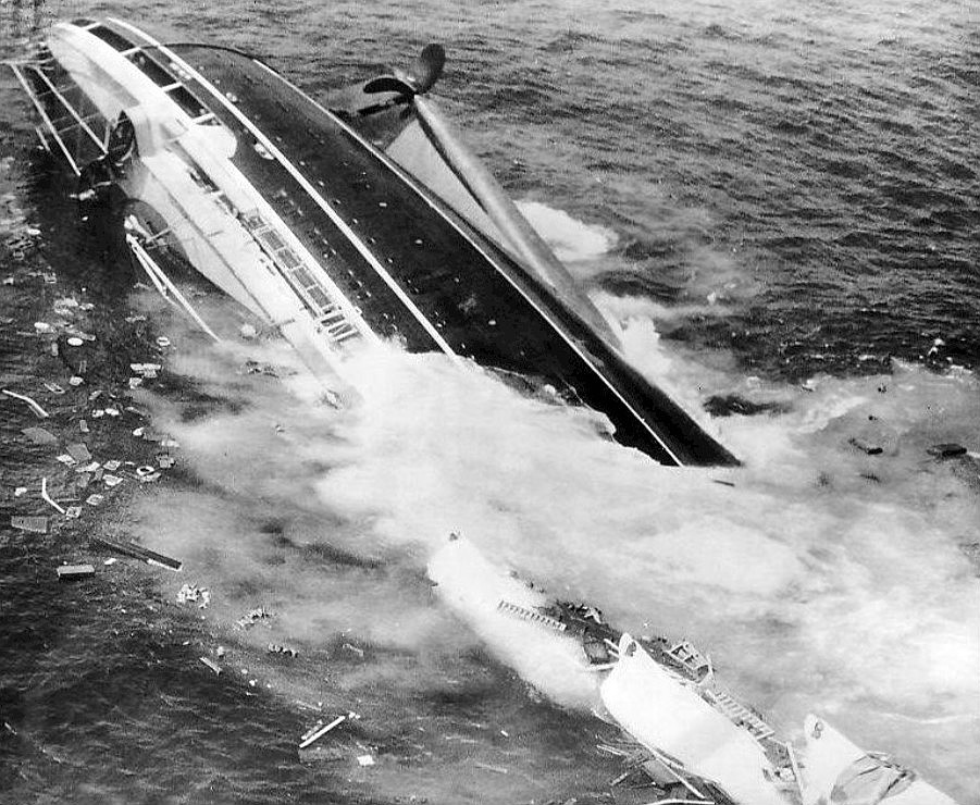 Andrea Doria was sinking during several hours