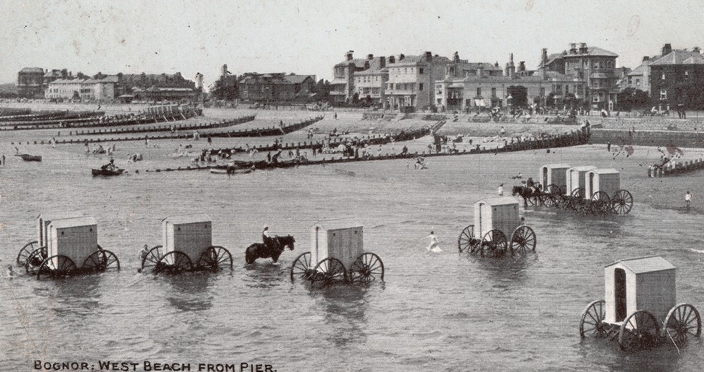Bathing machine at the West Beach Bognor