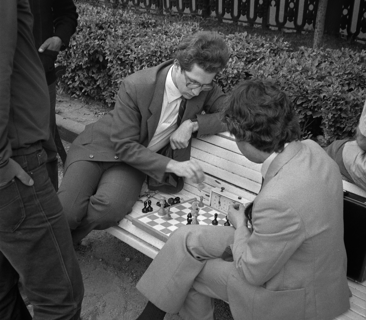 It seems like chess was a popular game among the residents of Moscow in 1980s