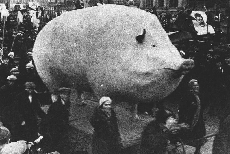 This Parade sculpture symbolize the capitalism
