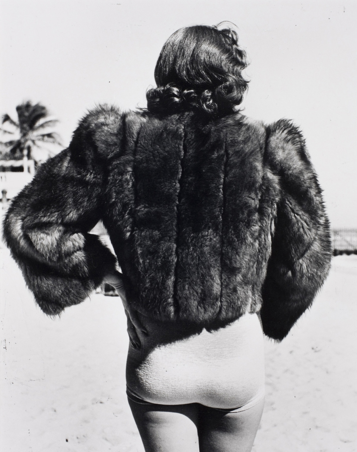 A New Yorker on vacation in Miami Beach, Florida, USA, 1940.