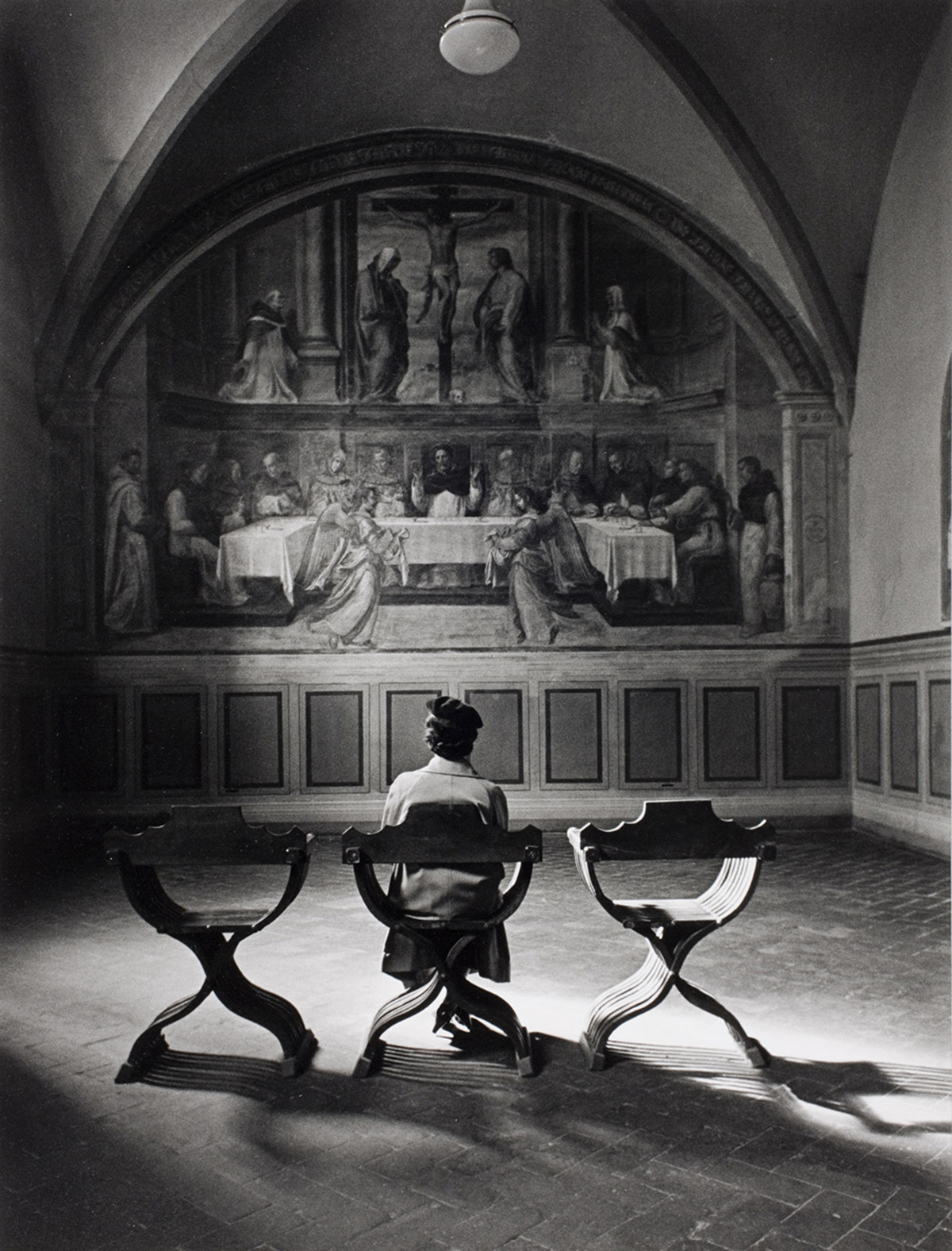 Alfred Eisenstadt photos of A fresco in the Dominican monastery of San Marco called Providence. It was created by Giovanni Antonio Sogliani in 1536. Italy, Florence, 1935.