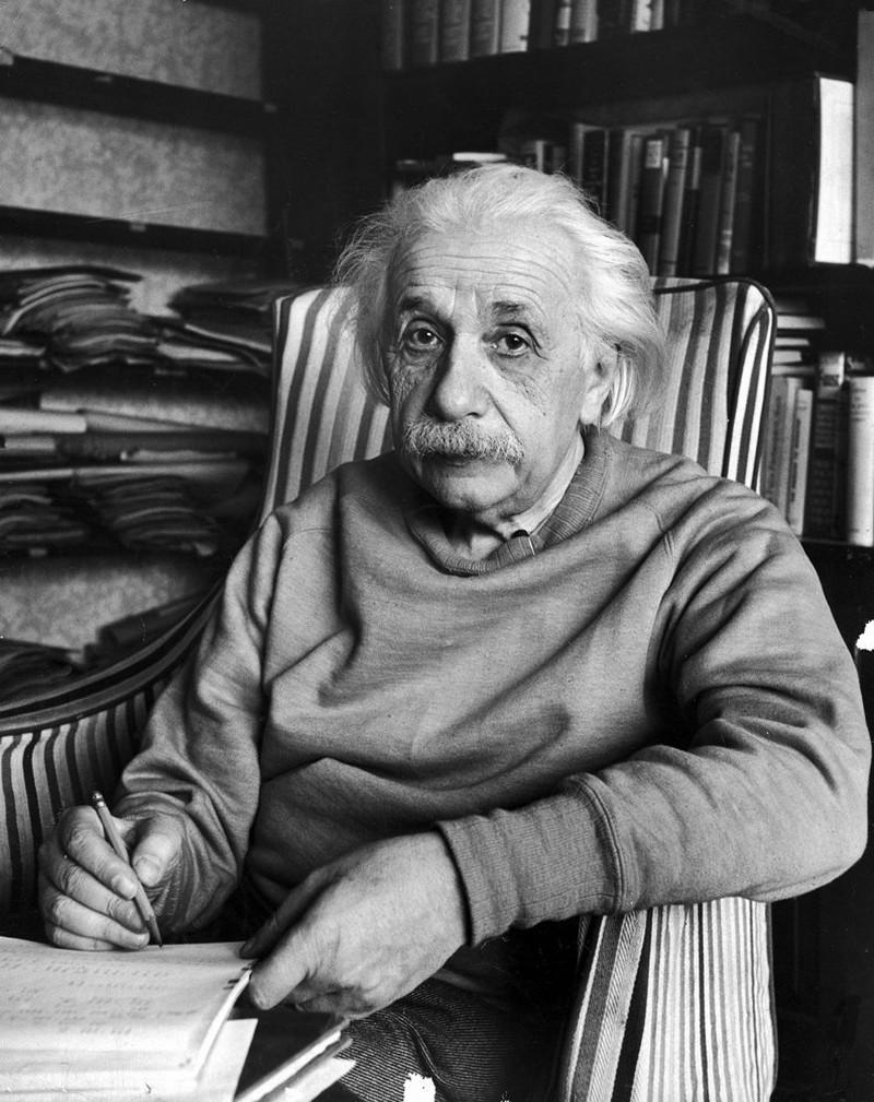 Albert Einstein at Princeton, 1948.