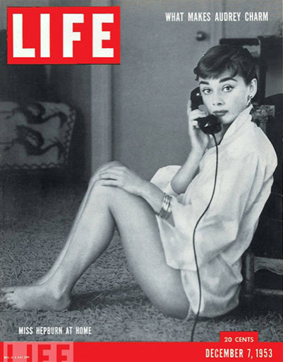 Audrey Hepburn posed at home for the 1953 LIFE magazine covers