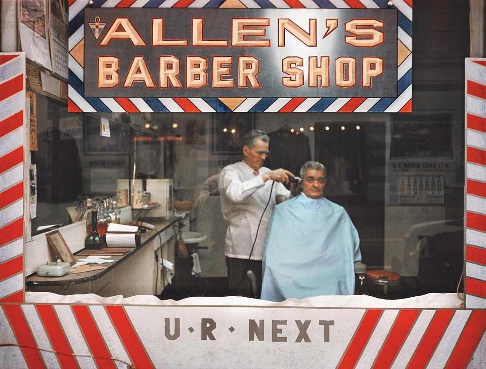 Barber in Vancouver, 1960s