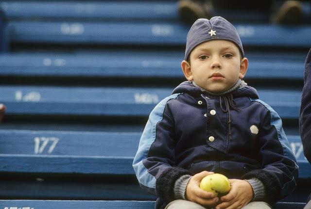 Boy at the Dinamo stadium, 1992