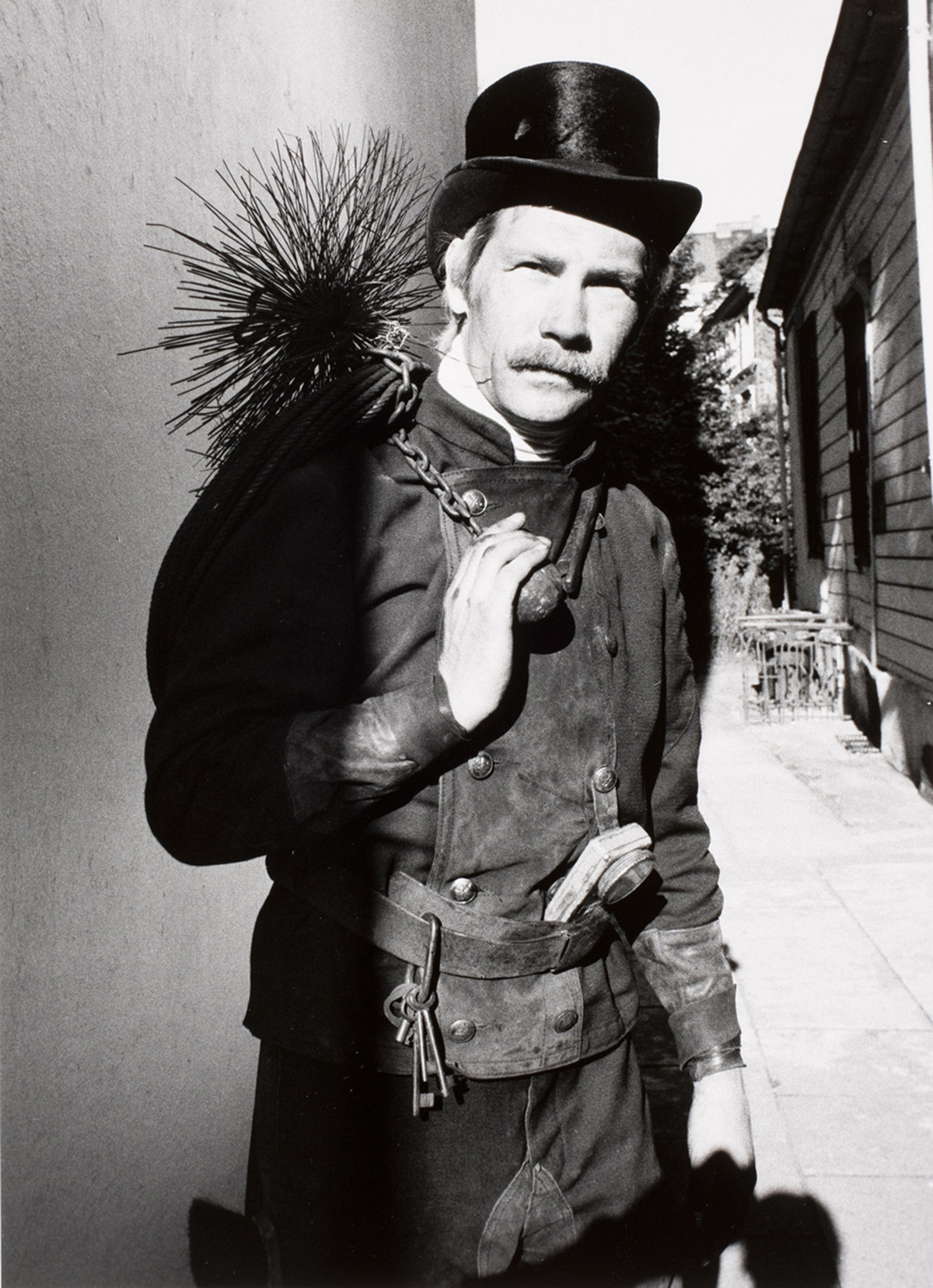 Chimney sweep in Hamburg, Germany, 1979.
