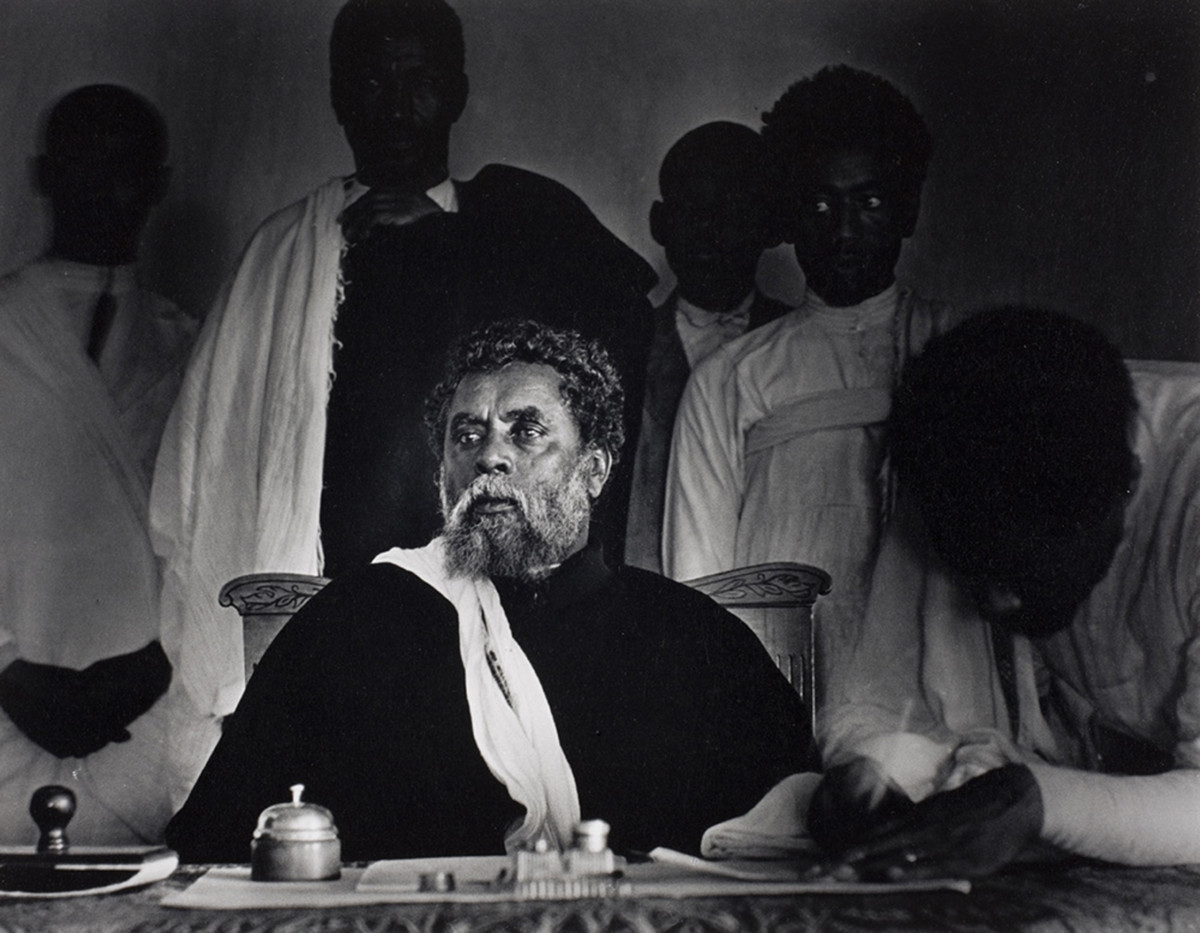 City mayor and chief of justice, presiding over the court session. Addis Ababa, Ethiopia, 1935.