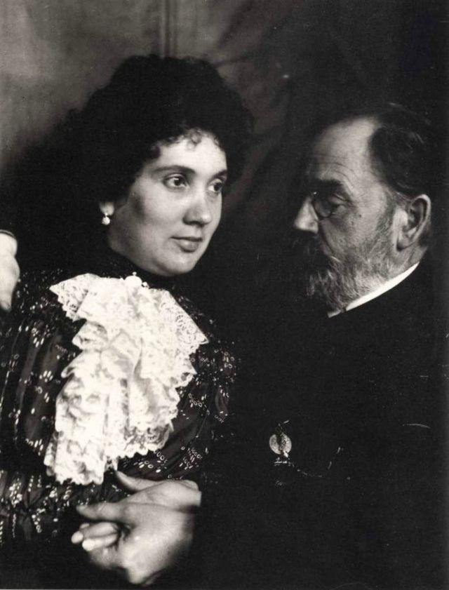 Emile Zola and his wife