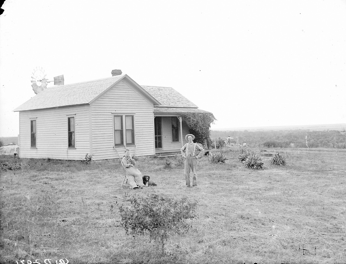 Family, believed to be Caster County, Nebraska.