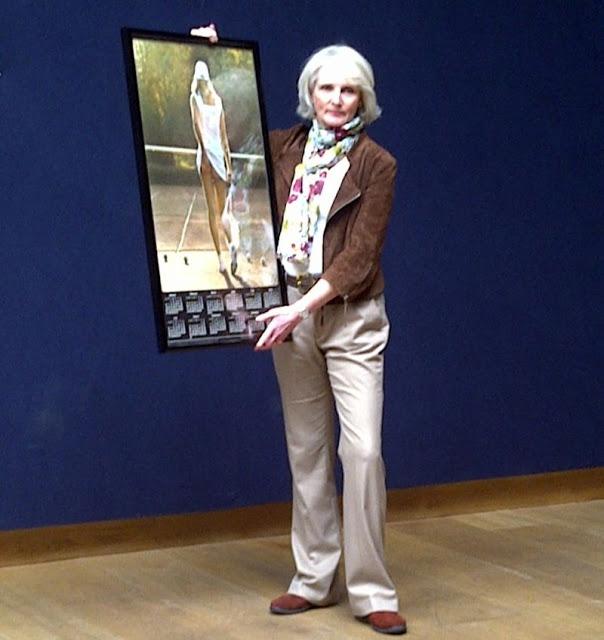 Fiona Butler holding a photo