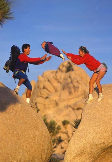 Flying baby photography, California, 1995