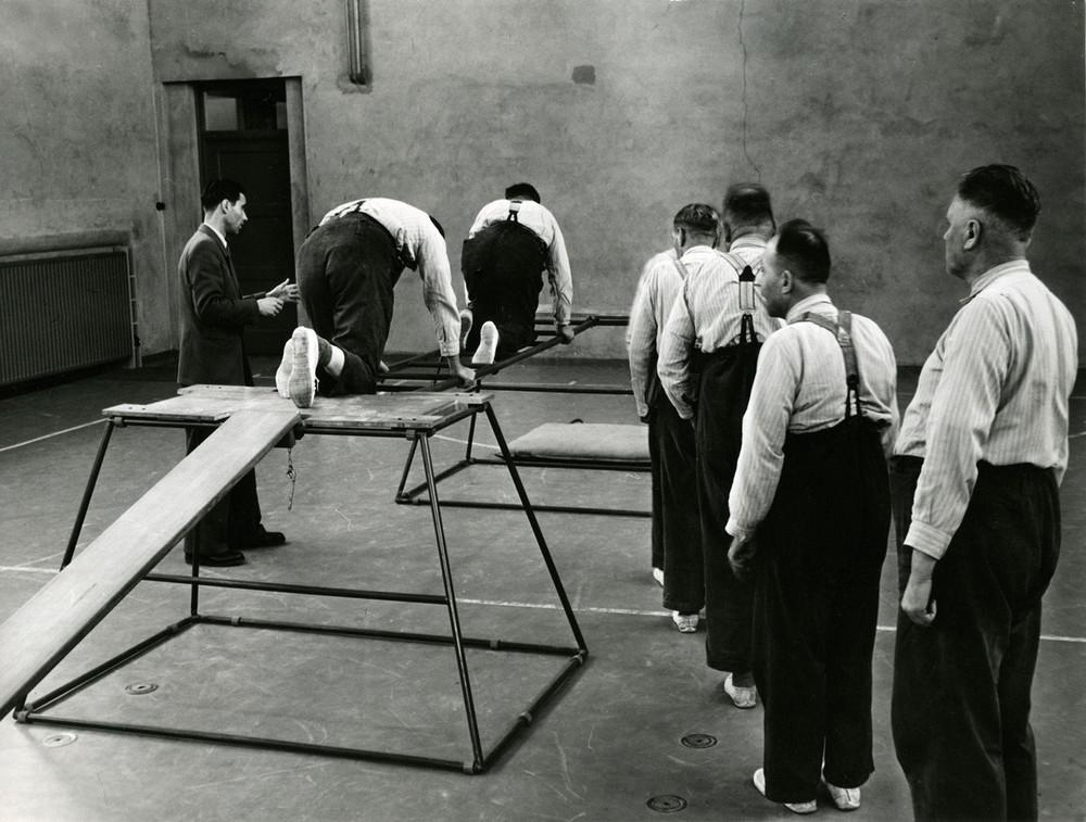 Bizarre photos of  Exercises at the Sint Willibrordus mental hospital