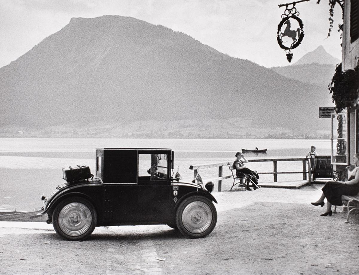Hanomag car, Wolfgangsee, Salzburg, Austria, 1932.