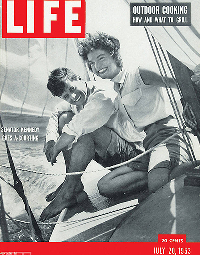 John and Jacqueline Kennedy resting on a yacht, 1953 cover