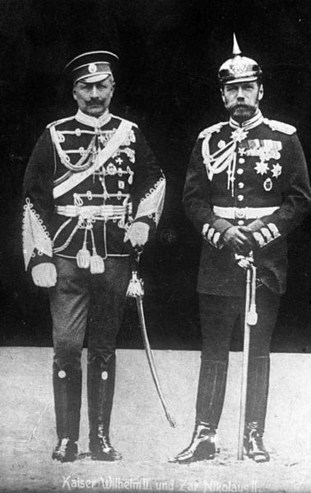 Kaiser Willhelm II and Nicholas II