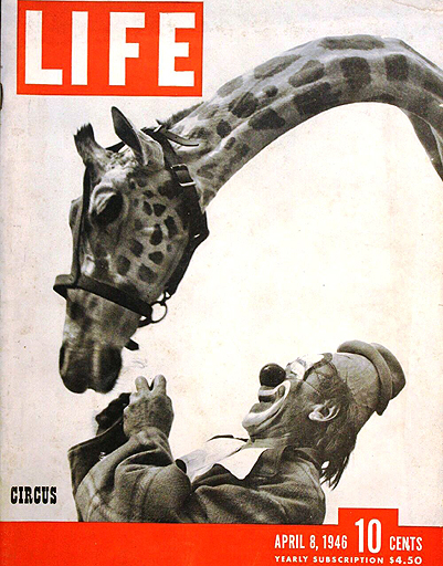 LIFE magazine April 8, 1946 is dedicated to the circus.