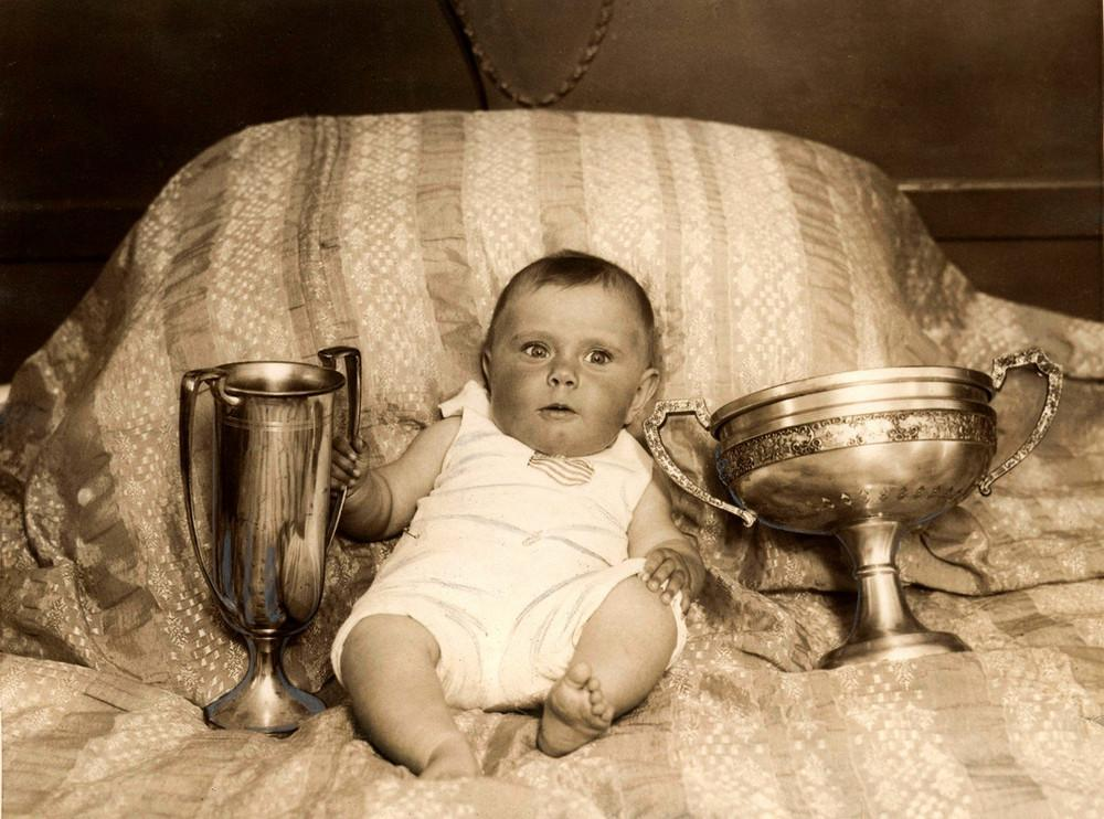 Marcia Pinkenfield, six months old, who won a very unusual competition and was chosen as the most beautiful child in America,