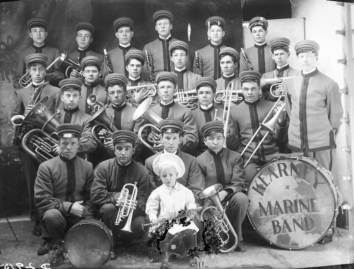 Marine Band, Kearney, Nebraska, 1908.