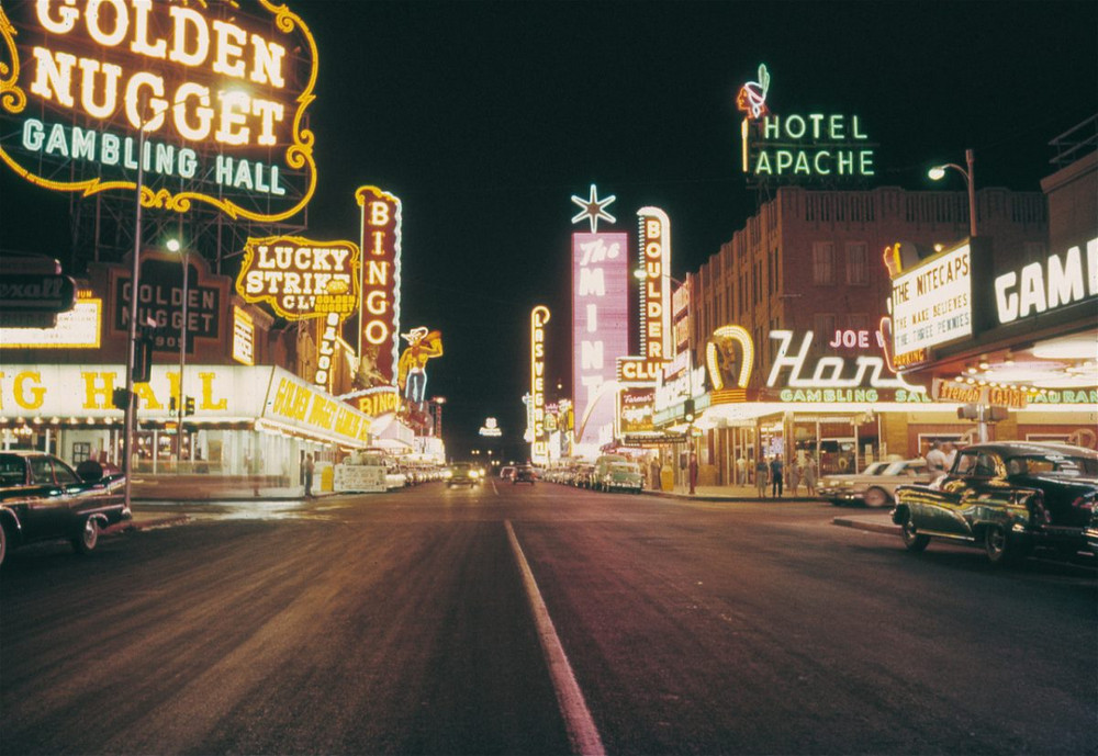 Neon lights shaped the city development