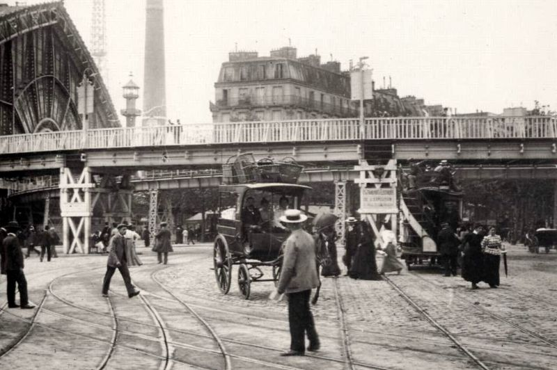 One of the Train Station in Paris, 1890s
