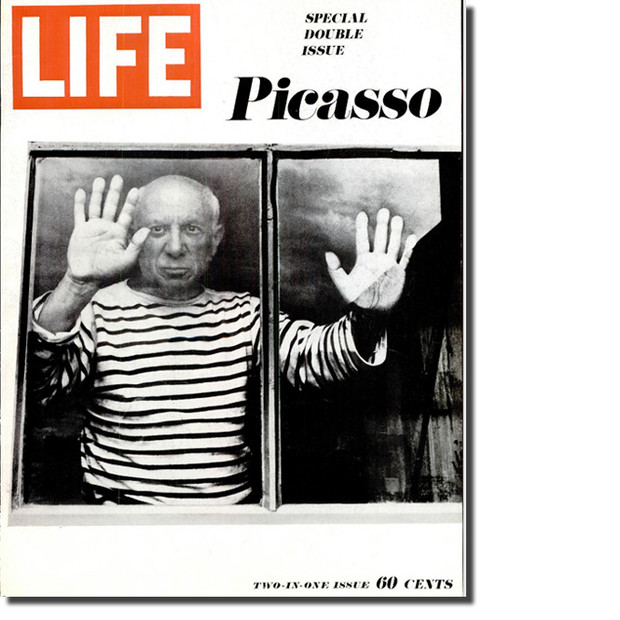 Pablo Picasso on the Life magazine covers