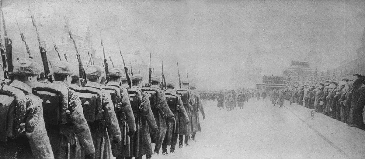 Parade in Moscow, November 7, 1941