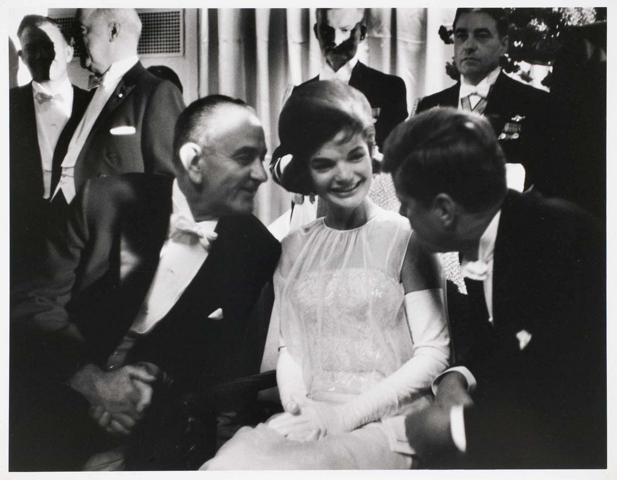 President John F. Kennedy's inauguration ball at the Mayflower Hotel in Washington, DC January 20, 1961.