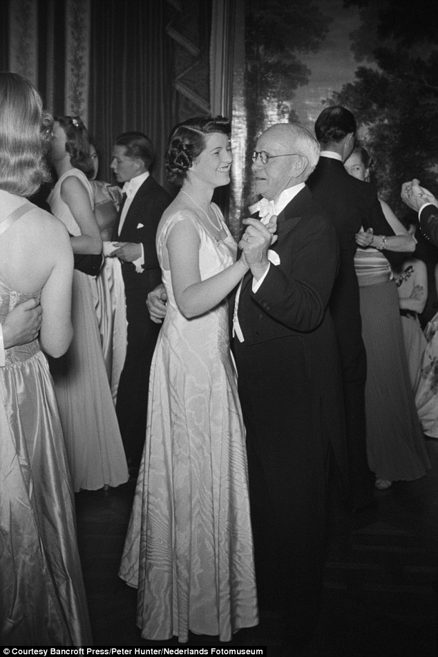 Rosemary dances with family friend, Edward Moore before she was sent away
