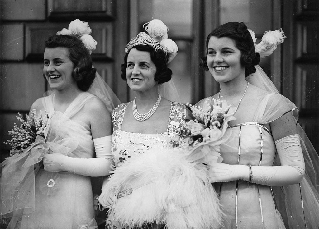 Kathleen and Rosemary Kennedy during the introduction to the King of the UK
