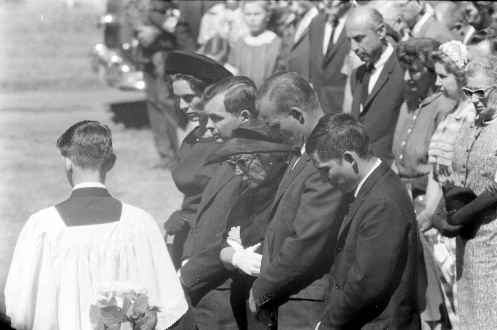 Ernest Hemingway's sons at father's funeral
