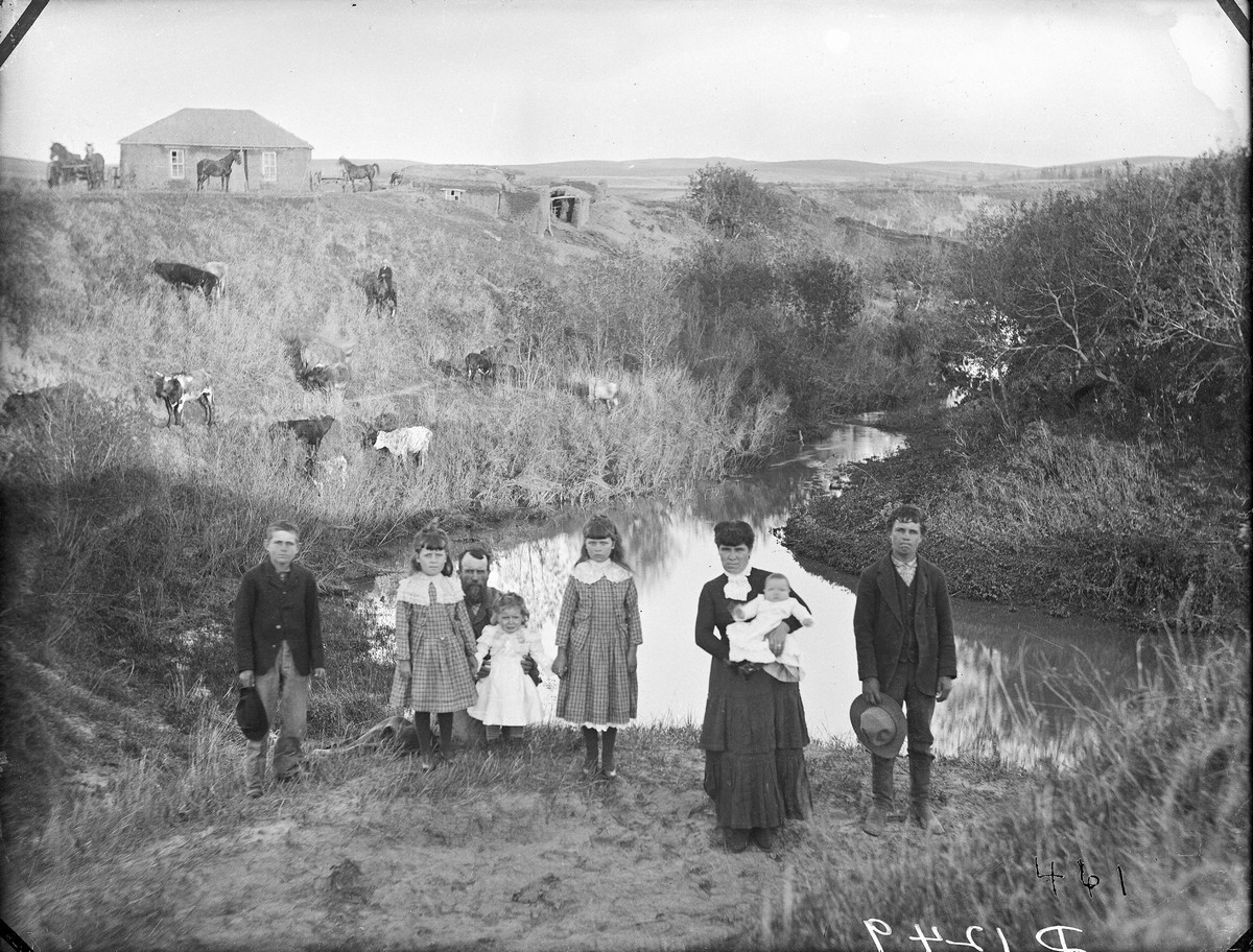 Sod House, Custer County, Nebraska, 1887.