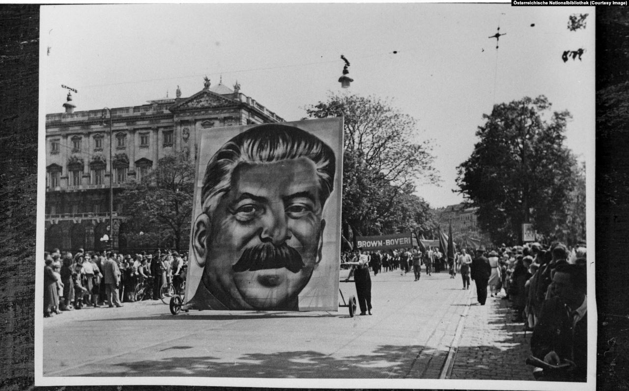 Soviet troops tried to promote Communism (and the USSR leader Joseph Stalin) as hard as they could