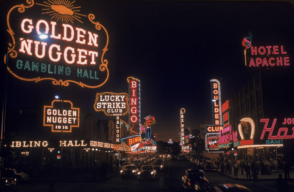 Strip, Las Vegas, 1955