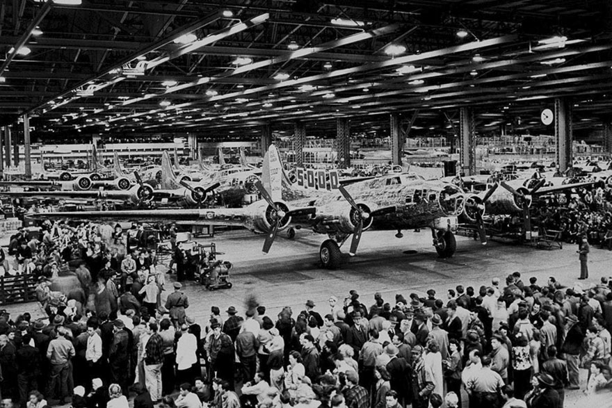 The Boeing bombers played a crucial role in WWII