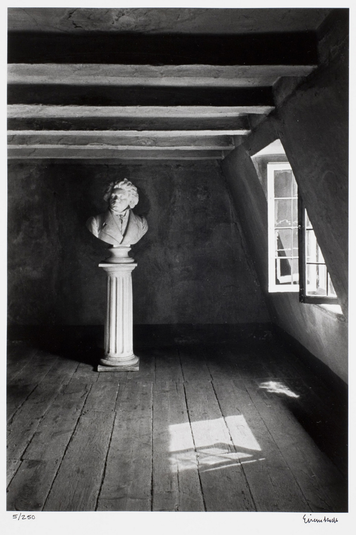 Alfred Eisenstaedt photos of The room where Beethoven was born. Bonn, Germany, 1979.