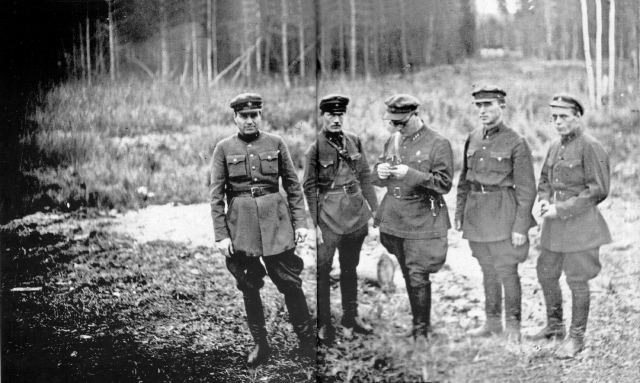 The shooting team of NKVD. These people executed the death sentence.