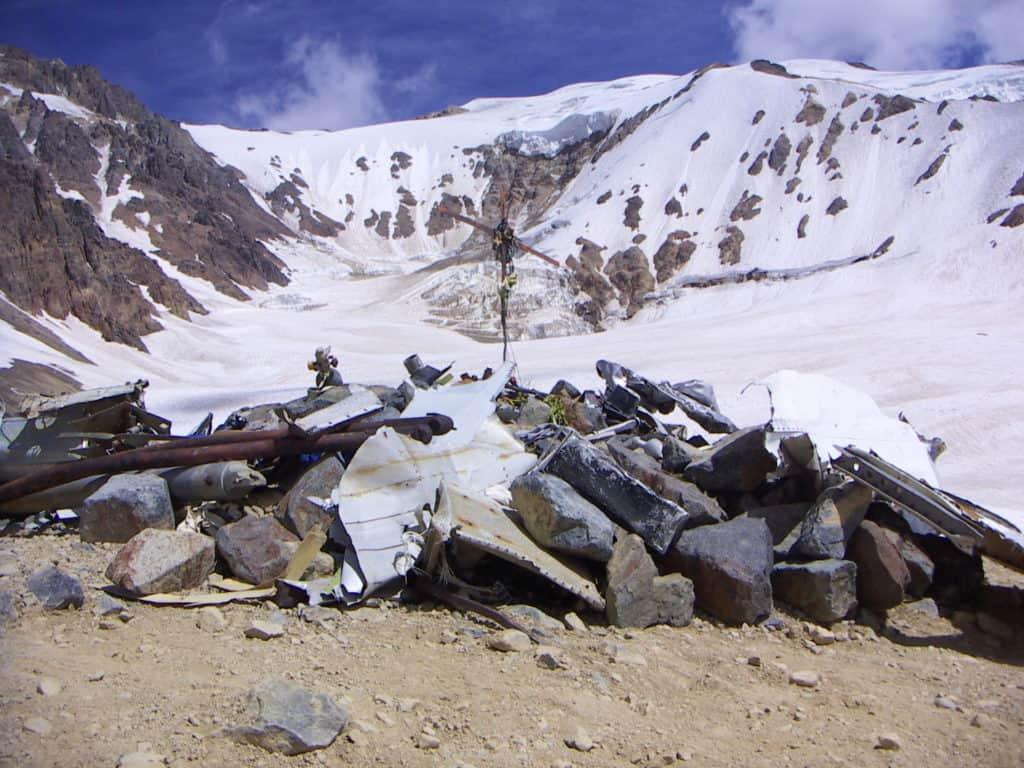 The site of the crash Uruguayan Air Force Flight 571