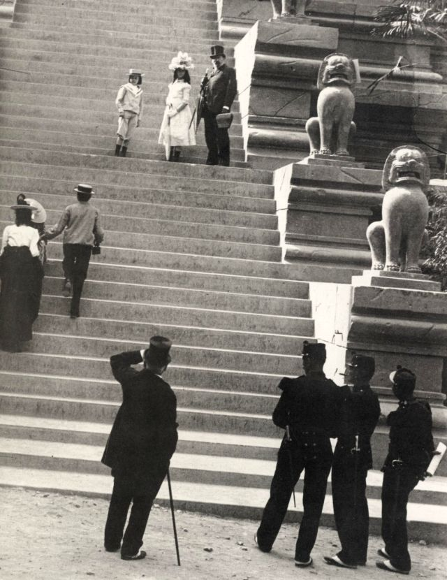 The stairs to the Sacre-Coeur