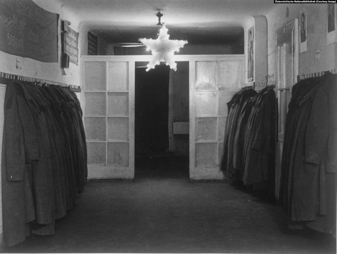 The wardrobe room of the soviet army commanders